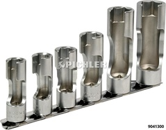Überwurfmutternschlüssel 6-kant Satz 6-teilig 10,11,12,14,17+19 mm A.3/8
