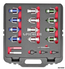 Screw hole punch set for parking sensors 18,0- 18,6- 20,0- 22,5- 26,0- 32,0 mm