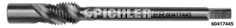 Maschinengewindebohrer M10x1,25 mit Führungszapfen und Schaft Ø6,0mm mit Einstich