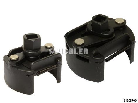 Ölfilterschlüssel Set 2-tlg. UNI Gr.1 und Gr.2 Verzahnung linksgerichtet