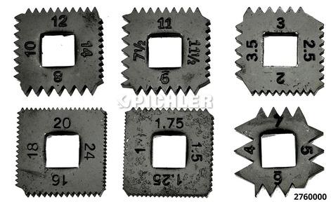 Gewindeschneidgerät verstärkt 35 - 130 mm mit Strehlerplatten metr./ Zoll