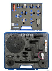 Universal Injector Removal Kit with Hydraulic Hollow Piston Cylinder with Adapter Set (Bosch, Denso, Siemens, Delphi)