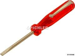Lüsterklemmen-Schraubendreher mit Klipp 3,0 x 40 mm Gesamtlänge 100 mm