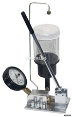 Injector pressure test device 0 - 400 bar with drag pointer