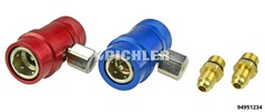 Conversion Coupler Set for the R134a Refrigerant Leak Detection System Quick Coupler for HFO-1234yf