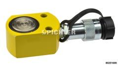 Hydraulik-Druckzylinder 10 t extra flach Hub 12 mm mit Federrückzug Flachzylinder