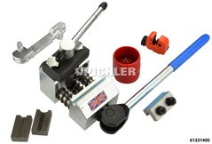 Dual flaring tool model K, 4.75 4.75 and 6 mm with accessories, for motorbikes, passenger cars