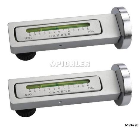 Sturzfixier Wasserwaage mit Magnetfuß  Satz mit 2 Stück in Pastikkassette