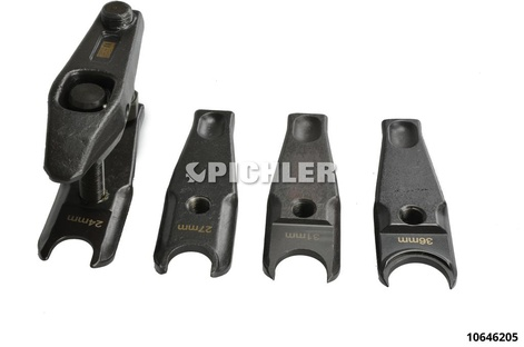 Jeu arrache rotule avec 4 griffes 24,27,31,36mm interchangeables (vis de rechange centrale 10646209)