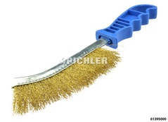 Stahldrahtbürste vermessingt Länge 250 mm