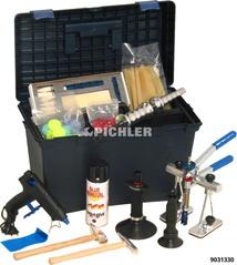 Beulen Ausziehset komplett Reparaturkit m. Klebeaufsätzen und Werzeugen im Koffer