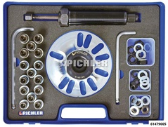 Universal Wheel Hub Remover With hydraulic spindle, adapters, mounting screws & nuts