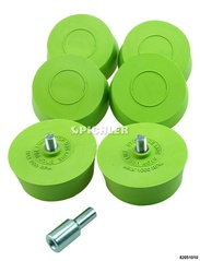 Rim eraser discs set 6 pcs. Incl. Drill chuck adapter