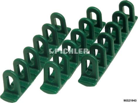 Zugösen  Multipads grün VPE3St Klebeaufsätze 6x22x156 unten rund