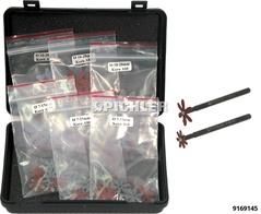 Bremssattel Reinigungs- Sternscheiben Set 2 Adapter +150 Stk.Reinigungsscheiben