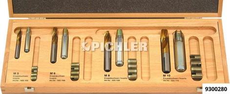 Gewindebuchsen-Reparatur-Satz M5,M6,M8,M10 komplett im Holzkasten