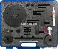 Jeu de démontage injecteur mod. UNI avec  Cylindre hydraulique creux 12t sans Jeu d'adaptateurs (Bosch, Denso, Siemens, Delphi)