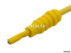Kabelschuhverbinder M flach 0,8 mm gelb