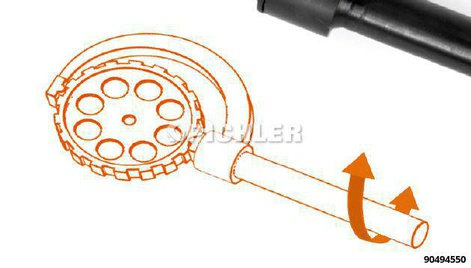 UNI retaining tool pulley for car and commercial vehicle gear belt