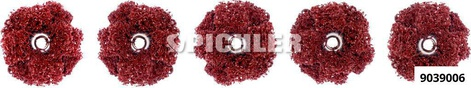 Injektorsitz-Fleecebürste VPE 4 Stück 25 mm fein