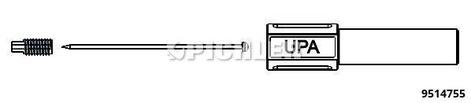 Prüfnadelset mit biegsamer Spitze Aufnahme 4,0mm in vier Farben für z.B. Multimeterprüfspitze + Ersatznadeln