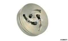 Embout rotatif universel Gr. U avec 3 tenons, ajustable de Ø 9,5 à 25,2 mm, entrainement par 2 orifices