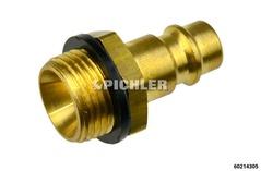 """Stecknippel R 3/8"""" AG für Pressluftkupplung"""