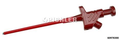Prüfspitze mit Greifzange rot