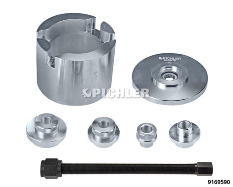 VAG Bolted Wheel Bearing Toolkit MK II Complete with Spindle and 4 Extraction Discs