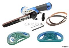 Druckluft-Bandschleifer mit Ersatzbänder