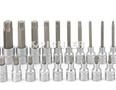 Steckschlüssel 1/2 Torx 25-tlg, TX20 bis TX100, Länge 55 mm,100 mm,140mm