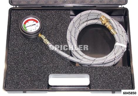 Abgasdruck-Prüfkoffer Manometer -1 bis +3 bar Anschl.M18x1,5 Schlauch 3M