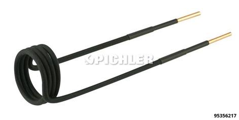 Spule gerade, Ø38mm, Länge 220mm, M20 Ausführung in schwarz