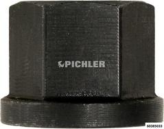 Sechskantmutter M14 mit Bund / 6331 / schwarz