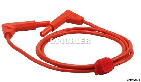 Sicherheits-Messleitung  mit Isoschutz 90° Winkel in rot