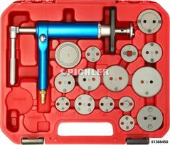 Bremskolben-Drehwerkzeug Satz 16-tlg. UNI im Koffer Grundgerät druckluftbetrieb