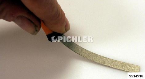 Reinigungswerkzeug Set 3-tlg. Diamant- beschichtet flache Kontaktfeilen m.Griff für Steckverbindungen