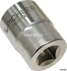Socket 1/2, 6 Point, Plane, 7/8