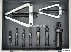 Extracteurs roulements intérieurs, jeu B, 9 pcs 10-75mm av 2 pieds appuis Gr.
