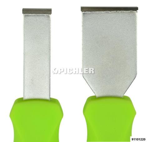 Carbide scraper kit, 2 parts  Blade A 16.1 x 4.2 mm Blade B 32.2 x 4.2 mm