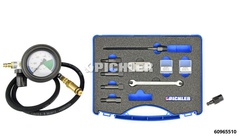Pressure Drop Test Kit incl. Universal Glow Plug Hole Adapter Set