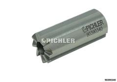 Injektorsitz-Fräser 180° mit Längsnut drm. 17,0 mm durchgehend z.B. Bosch Injektoren
