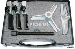 Abziehsatz im Koffer 6-tlg. Polyp NE Brücke 2 + 3 armig mit Krallenhaken 2,0 mm