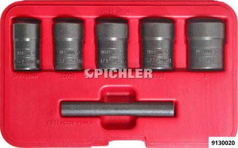 """Ausdreher Set TWIST SOCKET 5-tlg. 3/4""""-1 """" Antr. 1/2"""" in Plastikkassette"""