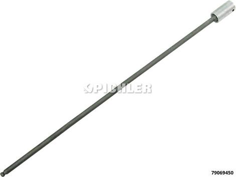"Kugelkopf-Inbuseinsatz SW 4 Antr.1/4"" Länge 300 mm (z.B. OT-Geber VAG)"