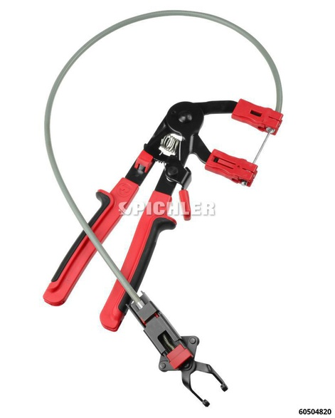 Quick Coupler Release Pliers with Bowden Cable and Locking Mechanism