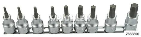 Innentorx-Satz 9-tlg. kurz TX 20 - TX 60 Antrieb 1/2 RS4025-60/9