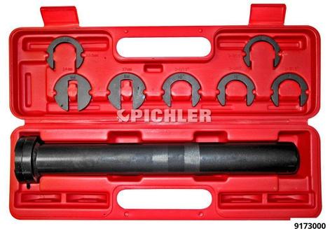 Spurstangenschlüssel-SET mit 7 Mauleinsätzen für die Inneren Spurstangen