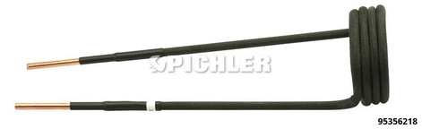 Spule gerade, Ø45mm, Länge 220mm, M22 Ausführung in schwarz