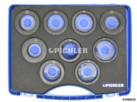 Lagerring Abziehsystem Set 9-teilig  von Ø38mm - Ø54mm Federring mit Kegelscheibe ohne 3-Arm-Abzieher